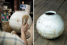 It can be difficult to spot how different marks on a pot have been achieved. Here's our short guide to ceramic decoration to get you started. Ceramic Brush, Ceramic Tools, Ceramic Decor, Ceramic Painting, Ceramic Vase, Ceramic Pottery, Ceramic Techniques, Pottery Techniques, Ceramic Glaze Recipes