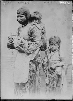 One million Armenians fled Turkey between 1915 and 1923 to escape persecution and genocide. Armenian woman and her children from Geghi, 1899 - #Refugee - Wikipedia