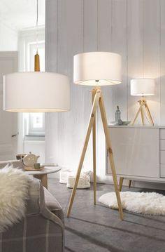 Leuchtenwelten table lamp standard lamp ceiling lamp for example floor lamp> Arc Floor Lamps, Modern Floor Lamps, Interior Room Decoration, Interior Decorating, Home Decor, Mid Century Modern Lighting, Standard Lamps, Living Room Flooring, Ceiling Lamp