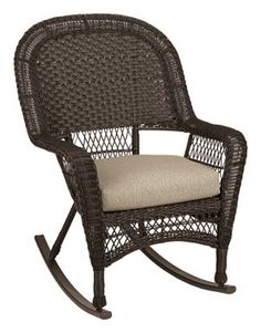 "Adirondack-Rocking Chair : Chicago Wicker Rocker Wicker 31"" X 31"" X 37"" Cocoa"