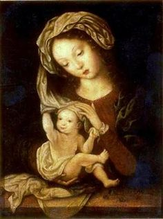 Madonna and Child with Cherries - Мабюз
