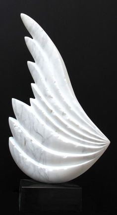 Marble Conceptual Art Sculptures #sculpture by #sculptor SAVA C Marian titled: 'MESSAGER white marble' £5500 #art