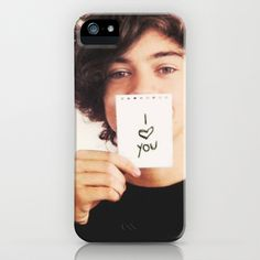 """One Direction Harry Styles """"I Love You"""" iPhone Case by Toni Miller - $35.00 @Halle O'Daniel THIS IS WHAY YOU NEED FOR CHRISTMAS."""