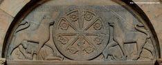 Tímpano de la puerta sur de la Catedral de Jaca, h. 1090.