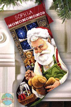 cross stitch holiday workshop xmas stocking - Căutare Google