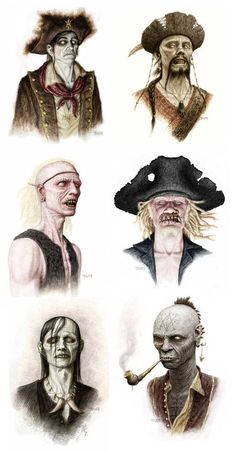 """Zombie Concept Art for """"Pirates of the Caribbean""""... Awesome!"""
