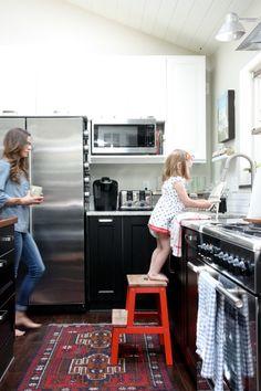 House Tweaking, Dana Miller's Kitchen, Ikea  Black Kitchen Cabinets   Remodelista