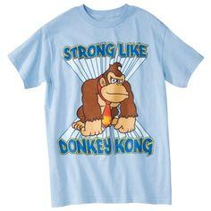 Donkey Kong Mens Graphic Tee - Light Blue
