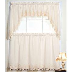 Battenburg Ecru Kitchen Curtains $15.00