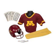 Franklin Ncaa Minnesota Gophers Deluxe Football Uniform Set, Boy's, Size: Small, Multicolor