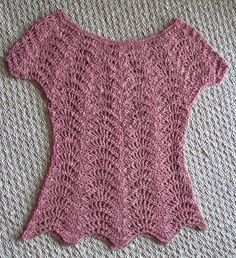 Ravelry: Feather and Fan Top pattern by Rebecca Averill YES, it is crocheted.