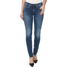 Levi's Made & Crafted Empire Skinny in Unique Women's Jeans, White ($80) ❤ liked on Polyvore