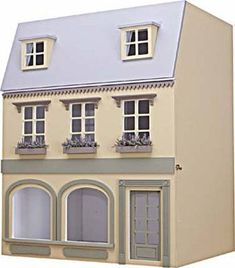 luxuri ser wintergarten orangerie weiss miniatur 1 12 puppenhaus puppenstuben h user. Black Bedroom Furniture Sets. Home Design Ideas