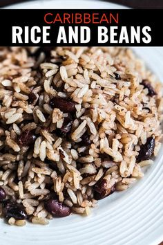 This Coconut Rice and Beans Dish from Costa Rica is Better than Gallo Pinto Easy Caribbean beans and rice recipe with coconut milk from southern Costa Rica. Easy Rice And Beans Recipe, Coconut Rice And Beans, Rice With Beans, Coconut Milk Rice, Coconut Milk Recipes, Kidney Beans And Rice, Red Beans Recipe, Jamaican Rice And Beans, Jamaican Dishes