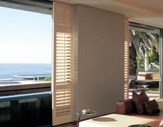 Normandy Shutters are made from the world's fastest growing tree species, our Normandy timber shutters are not only gentle to the touch, but are gentle on the environment too. Fast Growing Trees, Wood Shutters, Normandy, Living Area, Windows, Patio, Decor, Fastest Growing Trees, Normandie