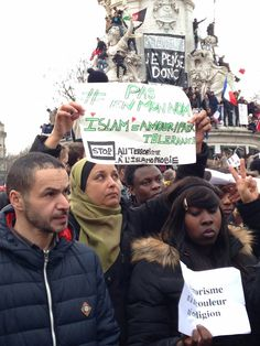 """Not in my name. Islam = love/peace/tolerance. Stop terrorism and Islamophobia."" Paris Anti-Terror Demonstration Is The Biggest March In French History."