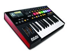 Akai Professional Advance 25 | 25-Key Virtual Instrument Production Controller with Full-Color LCD Screen & 10K Sounds Download  Integrated 4.3-inch high-resolution full-color screen with dedicated interface buttons.  Screen provides 1:1, real-time feedback of plugin parameters.  Includes Virtual Instrument Player software for unprecedented virtual instrument preset management, control mapping and multi patch creation.  25 Premium, semi-weighted velocity-sensitive keybed after touch.  ...