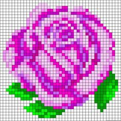 Rose perler bead pattern --- gift idea, maybe a magnet