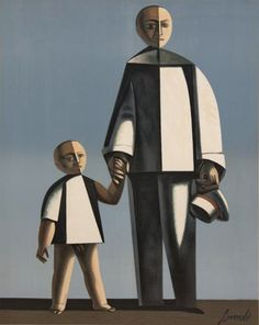 Standing Pierrot with Child and Hat by Duilio Barnabe (1914-1961) via mid-centuria