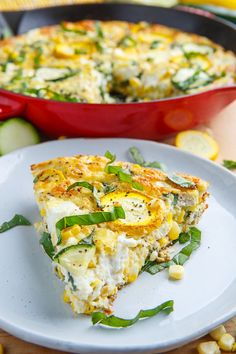 Feed the family with this corn and zucchini goat cheese quiche with lemon and basil recipe. Quiche Recipes, Brunch Recipes, Summer Recipes, Breakfast Recipes, Brunch Menu, Breakfast Ideas, Basil Recipes, Veggie Recipes, Cooking Recipes