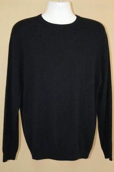 NWT Roundtree & Yorke 100% Cashmere Navy Blue Crewneck Pullover Sweater sz S #RoundtreeYorke #Crewneck