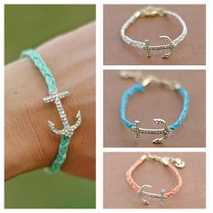I want one but with either a cross or infinity sign instead of an anchor.