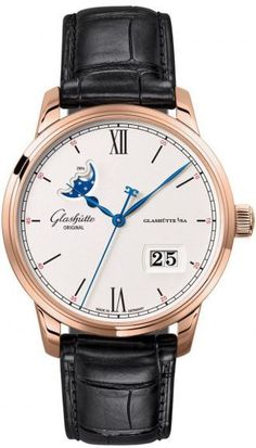 Glashütte Original Senator Excellence Panorama Date Moon Phase Red Gold - Exquisite Timepieces Glashutte Original, Audemars Piguet Royal Oak, Fashion Watches, Red Gold, Jewelry Collection, Watches For Men, Fashion Jewelry, The Originals, Lush