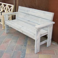 Diy Home Decor Dollar Store Woodworking Furniture, Pallet Furniture, Furniture Makeover, Outdoor Furniture, Garden Bench Plans, Wooden Garden Benches, Homemade Bench, Diy Chair, Home Decor