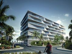 "BIG Unveils ""Honeycomb"" Condominium for Bahamas Resort - Hotels Design Projects Futuristic Architecture, Facade Architecture, Residential Architecture, Building Facade, Building Design, Bahamas Resorts, Big Architects, Famous Architects, Hotel Concept"