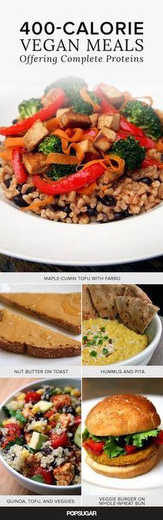 Vegan Complete-Protein Meals Under 400 Calories
