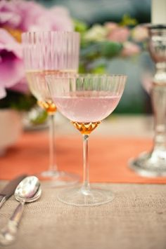 Pink & Gold Champagne Coupes