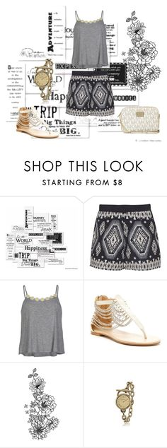 """Time go"" by oksana-kolesnyk ❤ liked on Polyvore featuring Vellum, Sugarhill Boutique, Full Tilt, N.Y.L.A., Brooks and Michael Kors"