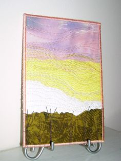Fabric Postcard Sunset Quilted Fabric Postcard Home by SewUpscale, $12.00