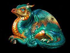 "Windstone Editions ""Jungle Flame "" Old Warrior Dragon Fantasy Animal Statue…"