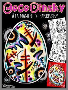 Voici un projet d'initiation à l'art abstrait et à Kandinsky. Le projet débute avec une chasse au trésor de 12 motifs à découvrir dans deux œuvres de Kandinsky. Par la suite, les élèves auront à inventer une œuvre abstraite, dans une forme d'œuf, pour Pâques. Une fiche d'appréciation des œuvres d'art est incluse à la fin du document. Les élèves apprécient particulièrement la liberté de création avec l'art abstrait. Arts plastiques - Art visuel - Pâques - primaire Kandinsky, Dot Day, Ecole Art, Thanks Card, Classroom Organisation, Easter Art, Holiday Themes, Art Abstrait, Art Lesson Plans