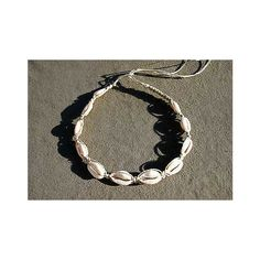Cowrie Shell Necklace, Hemp Necklace, Shell Choker, Beach Necklace... ❤ liked on Polyvore featuring jewelry, necklaces, long shell necklace, beading necklaces, hemp choker, aqua necklace and long choker necklace