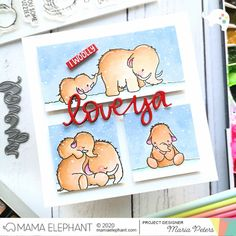 mama elephant | design blog: STAMP HIGHLIGHT: Mammoth Love