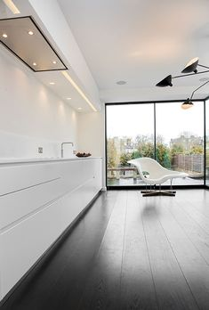 white minimalist North Kensington kitchen