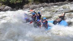 Guide Julian Jackson, alias, JJ powering through the rapids