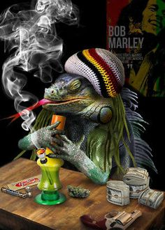 "Later, marijuana smokers chose April as ""their holiday"", because of the calendar numbers for this date. Bob Marley Kunst, Arte Bob Marley, Weed Wallpaper, Rasta Art, Reggae Art, Weed Humor, Weed Funny, Stoner Humor, Dope Wallpapers"