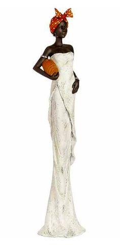 RP: AFRICAN LADY WHITE DRESS FIGURINE | eBay.co.uk