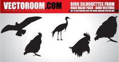 Birds Silhouettes Free Vector