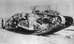 British Mark I tank with the Solomon camouflage scheme