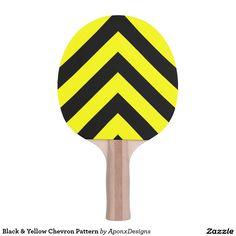 Black & Yellow Chevron Pattern