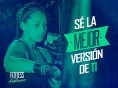 ¡Sé la mejor versión de ti! Fitness en femenino. Kick Boxing, Pilates Quotes, Body Combat, Posture Exercises, Fitness Motivation Pictures, Gymaholic, I Can Do It, Powerful Women, Workout Programs