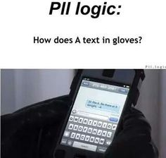pll logic - they have those heat sense gloves that are meant for texting Pretty Little Liars Meme, Preety Little Liars, Pll Memes, Pll Quotes, Funny Quotes, Funny Memes, Pll Logic, Red Band Society, Grey Anatomy Quotes