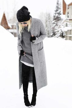 Invierno Winter Gris Black Grey Negro