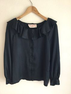 Vintage blouse Oscar de la Renta 90's top satin by MindfulGrace