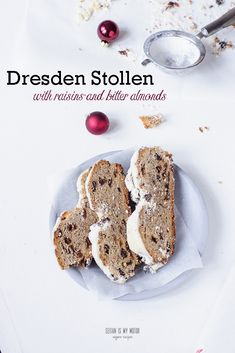 A vegan version of the traditional German Christmas stollen made in Dresden. Try this abundant yeast bake for a special Christmas treat.
