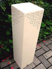 Metall Säule H.80 in creme/weiß aus verzinktes Blech Pflanzsäule Blumenständer